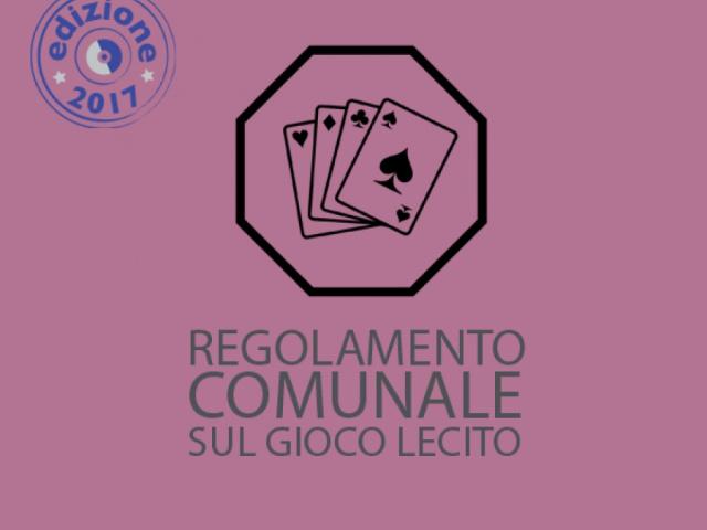 REGOLAMENTO COMUNALE SUL GIOCO LECITO - Comune di Pergine Valdarno