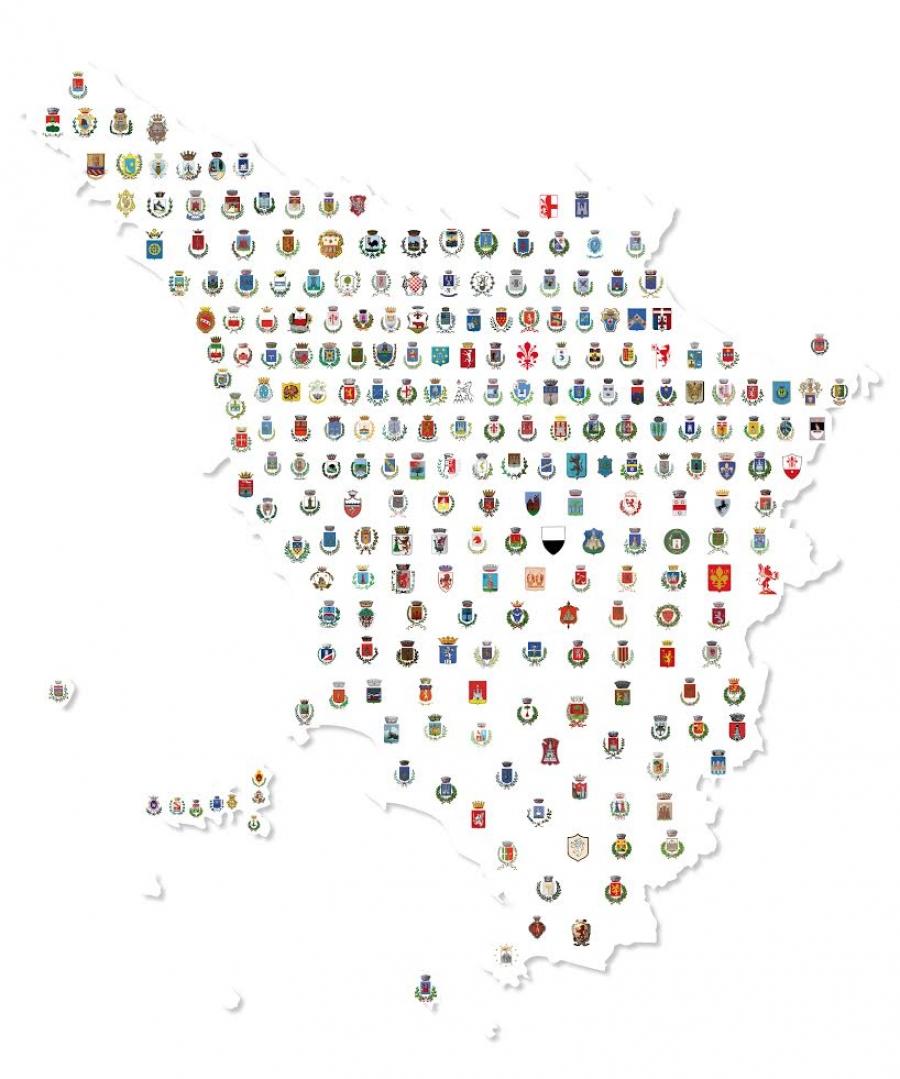 Cartina Della Toscana Con Tutti I Comuni.La Fotografia Dei Comuni Toscani Dati Numeri E Cartine In